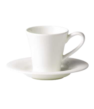 "(0137) Fusion A.D. Coffee Saucer, 5"" dia. (12.85 cm), bone china, microwave safe"
