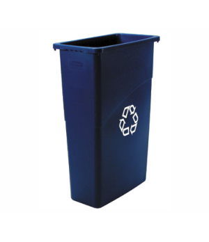 "Slim Jim® Recycling Container, 23 gallon, 20""W x 11""D x 30"" H, blue"