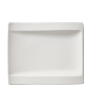 "Plate, 7"" x 6"", rectangular, narrow rim, free form, dishwasher & microwave safe,"