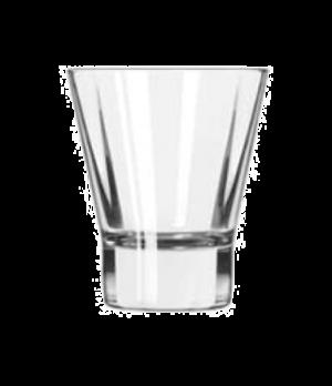 Rocks Glass, 9 oz., flare, square shape, heavy sham, DuraTuff®, Quadra V