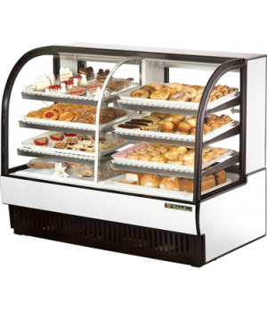 Curved Glass Dry/Refrigerated Bakery Case, dry/refrigerated, self-contained, 59-