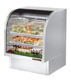 "Curved Glass Deli Case, 36-1/4""L, service type, self-contained refrigeration, gr"