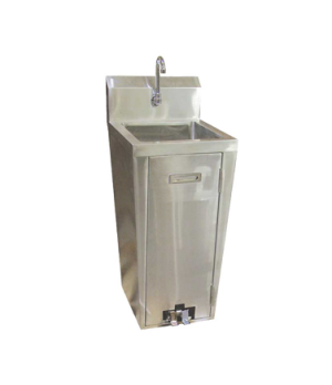 "(23515) Hand Wash Pedestal Sink, 16"" x 13-3/4"" x 5-3/4"" bowl, includes: 34"" pede"