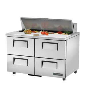 "ADA Compliant Sandwich/Salad Unit, (12) 1/6 size (4""D) pans, stainless steel ins"