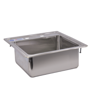 "(39784) Drop-In Sink, one compartment, self-rimming, 12-1/4"" wide x 10-1/4"" fron"