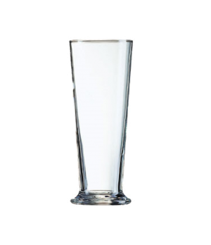 "Pilsner Glass, 23 oz., glass, Arcoroc, Linz (H 8-1/2""; T 3-5/16""; B 3-1/4""; M 3-"
