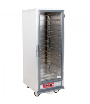 Full Height Heated Proof & Hold Cabinet, Clear Door, Fixed Wire Slide