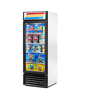 Freezer Merchandiser, one-section, -10° F, (4) shelves, laminated vinyl exterior