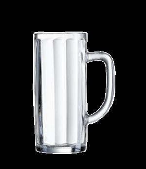 """Beer Mug, 12-3/4 oz., glass, Arcoroc, Minden Mug, (H 6""""; M 4-1/8"""")"""