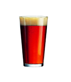 "Pub Glass, 16 oz., fully tempered, glass, Arcoroc, (H 5-3/4""; T 3-1/2""; B 2-3/8"""