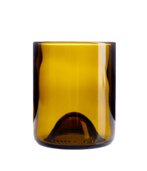 "Tumbler 12 oz., glass, amber, Arcoroc, Wine Bottom (H 4"")"