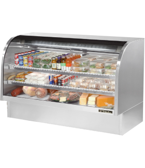 "Curved Glass Deli Case, 72-1/4""L, service type, self-contained refrigeration, gr"