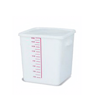 Space Saving Storage Container, 18 qt., square, commercial dishwasher safe with