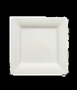 "Plate, 6-1/4"" x 6-1/4"", flat, premium porcelain, Pi Carre"