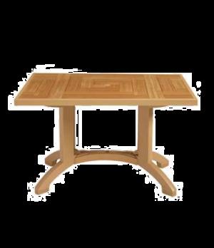 """Atlantis Outdoor Pedestal Table, 48"""" x 32"""", with umbrella hole, Rexform® resin"""