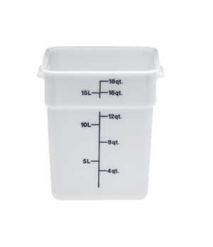 CamSquare® Food Container, with handles, 18 quart, 11-1/4 x 12-1/4 x 12-5/8, nat