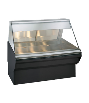 "Halo Heat® Heated Display Case System, 48"" L, self-service, half flat glass fron"