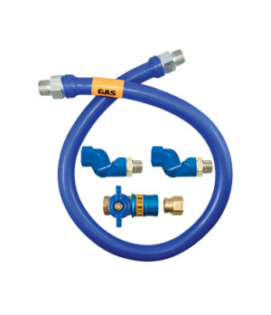 """Blue Hose™ Moveable Gas Connector Hose Assembly, 1"""" inside dia., 24"""" long, cover"""