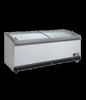 "Grocery Case Chest Freezer, horizontal, 98.4"" wide, 31.0 cu. ft. capacity, slidi"
