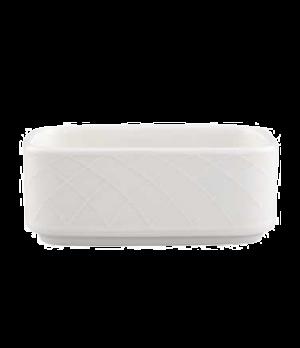 "Sugar Tray, 4"" x 2-1/2"" x 1-1/2"", 7-1/2 oz., rectangular, premium porcelain, Bel"