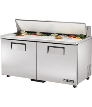 """Sandwich/Salad Unit, (16) 1/6 size (4""""D) poly pans, stainless steel insulated co"""