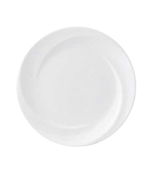 "Solar Plate, 8"" dia., round, dishwasher safe, bone china, white"