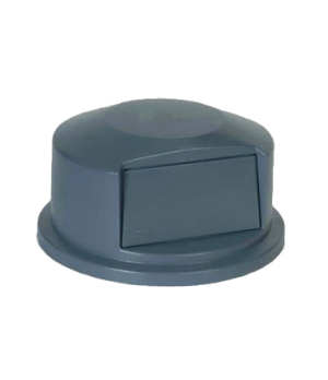 "BRUTE® Dome Top, 24-13/16""D x 12-5/8""H, heavy duty plastic, gray"