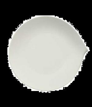 """Plate, 11"""" x 10-5/8"""", flat, premium porcelain, Flow"""