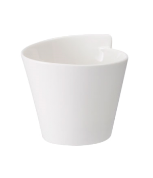 Bowl, 10-1/4 oz., round, free form, dishwasher & microwave safe, white, premium