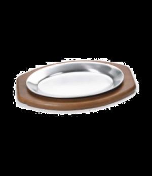 "Steak Platter, 7"" x 10-1/2"", oval, fits 61 , stamped aluminum, mirror finish"