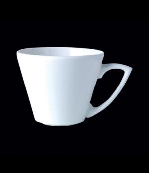 "Cup, 12 oz., 5-3/4""W x 3-1/2""H, cone, Distinction, Sheer, Monaco White (USA stoc"