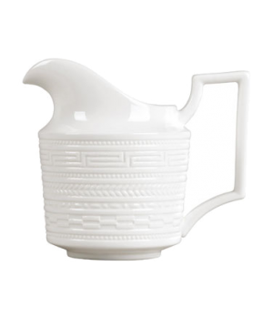 Intaglio Creamer, dishwasher safe, bone china, white