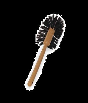 "Toilet Bowl Brush, 17""L, plastic handle, polypropylene fill, brown"