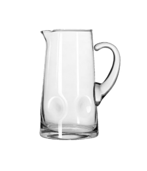 "Pitcher, 80 oz., glass, IMPRESSIONS (H 10-1/8""; T 4-1/2""; B 5-5/8""; D 7-3/8"") (6"