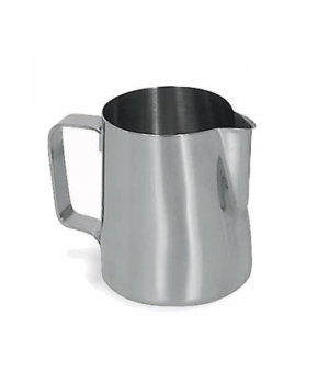 Contemporary Milk Pot, 12 oz., 18/8 stainless steel