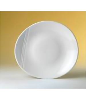 "Plate, 12"" dia., round, Distinction, Organic, Organics White (USA stock item) (m"