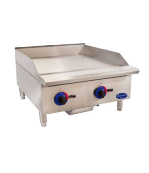 "Chefmate™ 24"" Gas Griddle, with manual controls, 3/4'' polished griddle plate, l"