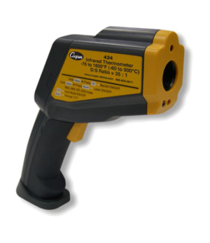 Gun Style Infrared Thermometer, temperature range 2 point laser: -76 to 1600°F/-
