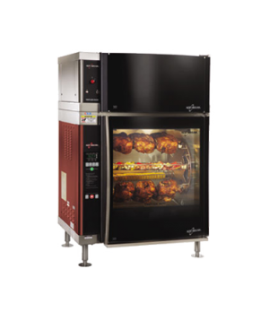 Rotisserie Oven, with ventless hood, electric, (7) removable stainless steel ang