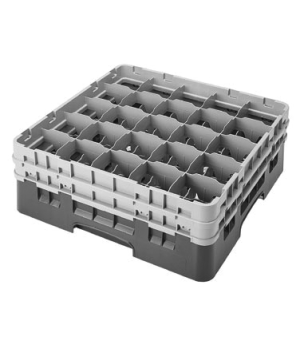 Camrack® Glass Rack, with 2 extenders, full size, low profile, 25 compartments,