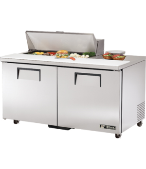 """Sandwich/Salad Unit, (10) 1/6 size (4""""D) poly pans, stainless steel insulated co"""