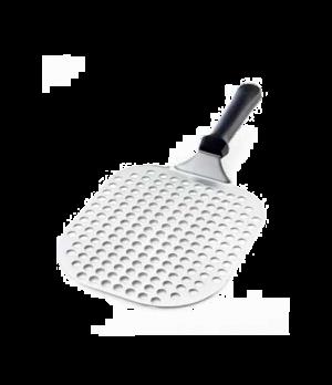 "Euro Pizza Slice Server, 8-1/2""L x 7-1/4""W, perforated, rectangular blade, 5"" AB"