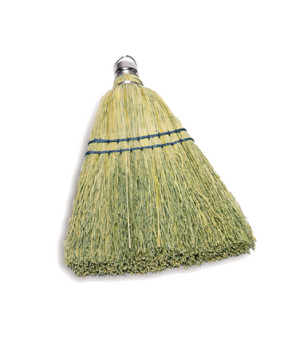 "Corn Whisk Broom, 12-1/4"", yellow"