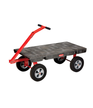 "5th Wheel Wagon Truck, 24"" x 48"", 2000 lb capacity, pivoting front axle, vinyl g"
