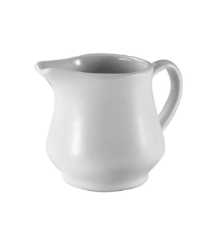 Creamer, 6 oz., handled, ceramic, white