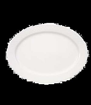 "Plate, 12-5/8"" x 9-1/2"", oval, premium porcelain, Bella (DE Stock)"