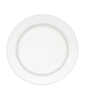 "Plate, 10-5/8"", flat, premium porcelain, Corpo White"