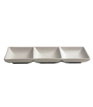 "Platter, 9 oz./270ml (3 oz./90ml per compartment), 3-1/4"" x 5-3/4"" (8 cm x 14-1/"