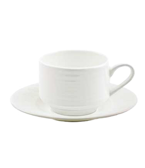 (18970) Fusion Cup, 6-3/4 oz. (20.0 cl), large, stackable, bone china, microwave