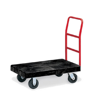 "Heavy Duty Platform Truck, 36""W x 24""D, 500 lb. capacity, slide locking latches,"